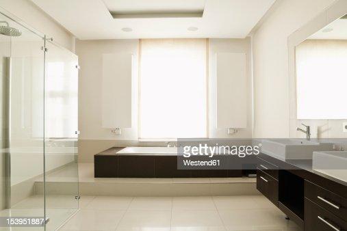 Germany Berlin Modern Bathroom Stock Photo