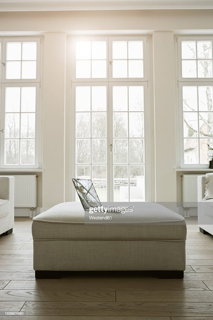 Germany, Berlin, Modern living room : Stock Photo