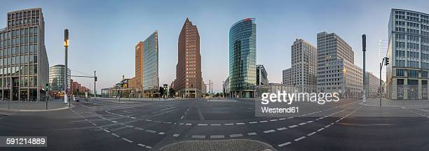 Germany, Berlin, Panoramic view of Potsdamer Platz during early morning