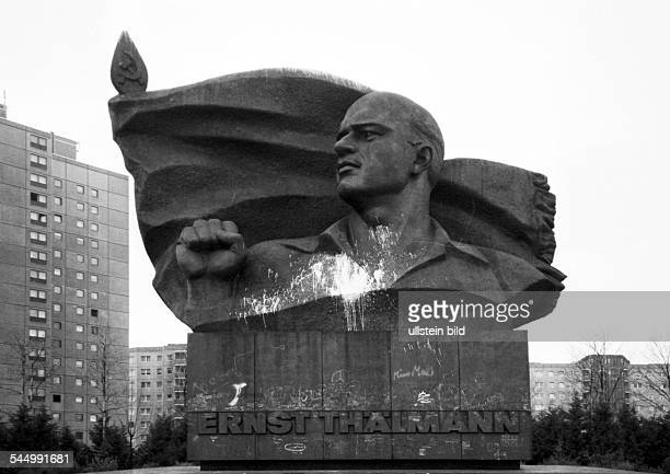 Germany Berlin Prenzlauer Berg monument for Ernst Thaelmann leader of the German Communist Party who was killed by the Nazi government in the...