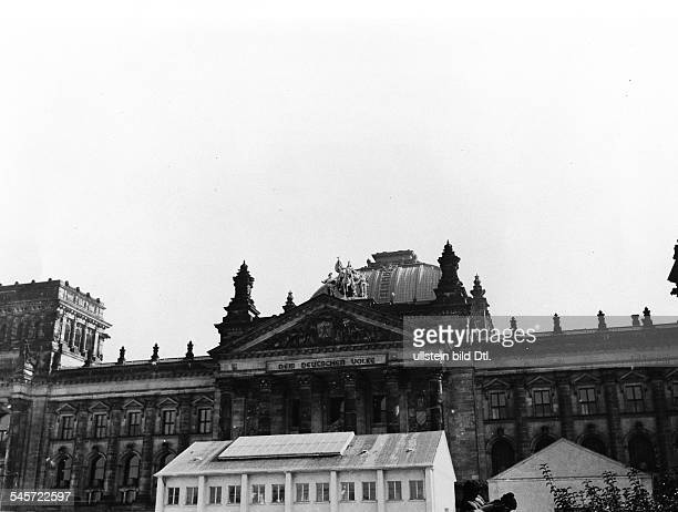 Germany Berlin Reichstag Cupola after the removal of the lantern
