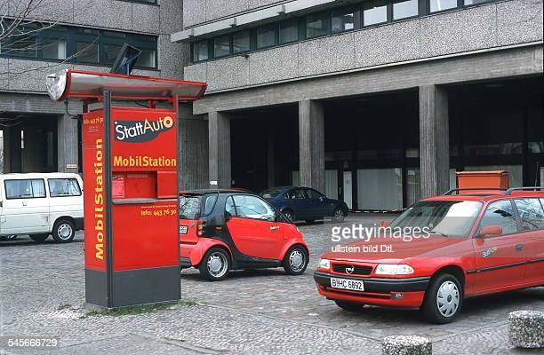 Germany Berlin Schoeneberg Carsharing pickup station for shared cars of carsharing company ''Stattauto''
