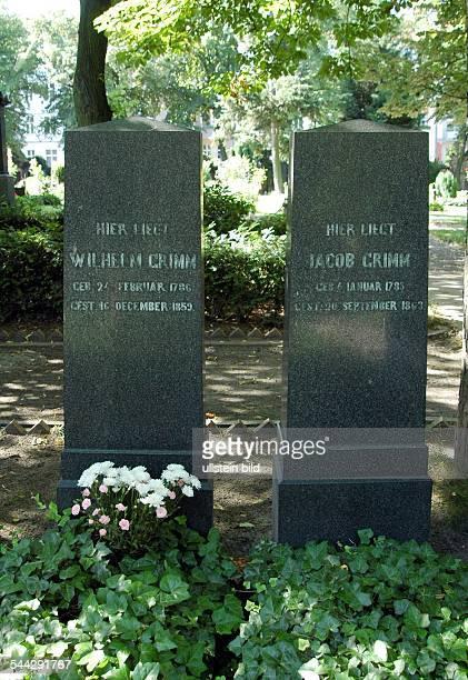 Germany Berlin Schoeneberg graves of Wilhelm and Jacob Grimm on the St Matthaeus cemetery