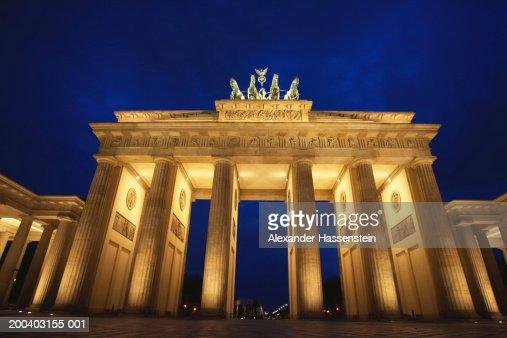 Germany, Berlin, The Brandenburg Gate, night