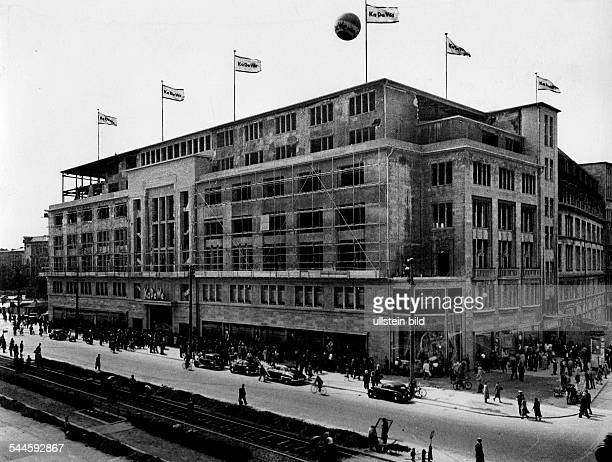 Germany Berlin the 'Kaufhaus des Westens' KaDeWe department store after reopening 1950