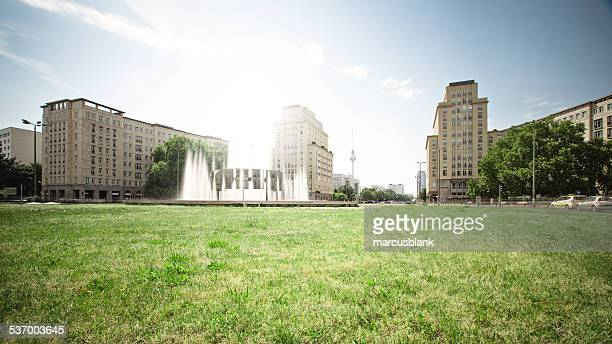 Germany, Berlin, View of city from lawn