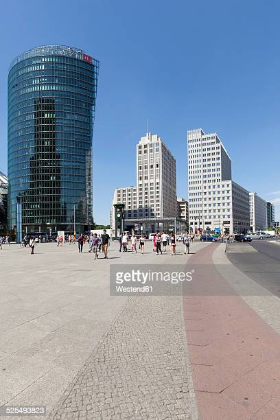 Germany, Berlin, view to BahnTower and Beisheim Center at Potsdam Square
