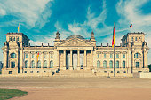 Germany, Berlin, view to Reichstag at sunlight