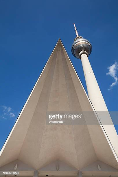 Germany, Berlin, view to television tower at Alexanderplatz