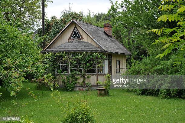Germany Berlin Weissensee dacha wooden house