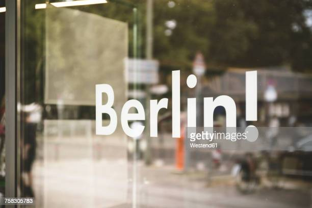 Germany, Berlin, window display with the word Berlin