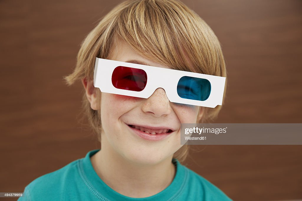 Germany Boy Wearing 3d Glasses Stock Photo | Getty Images