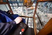 Germany Brandenburg Eisenhuettenstadt Loading of finished rolls of ribbon steel at the steel works ArcelorMittal