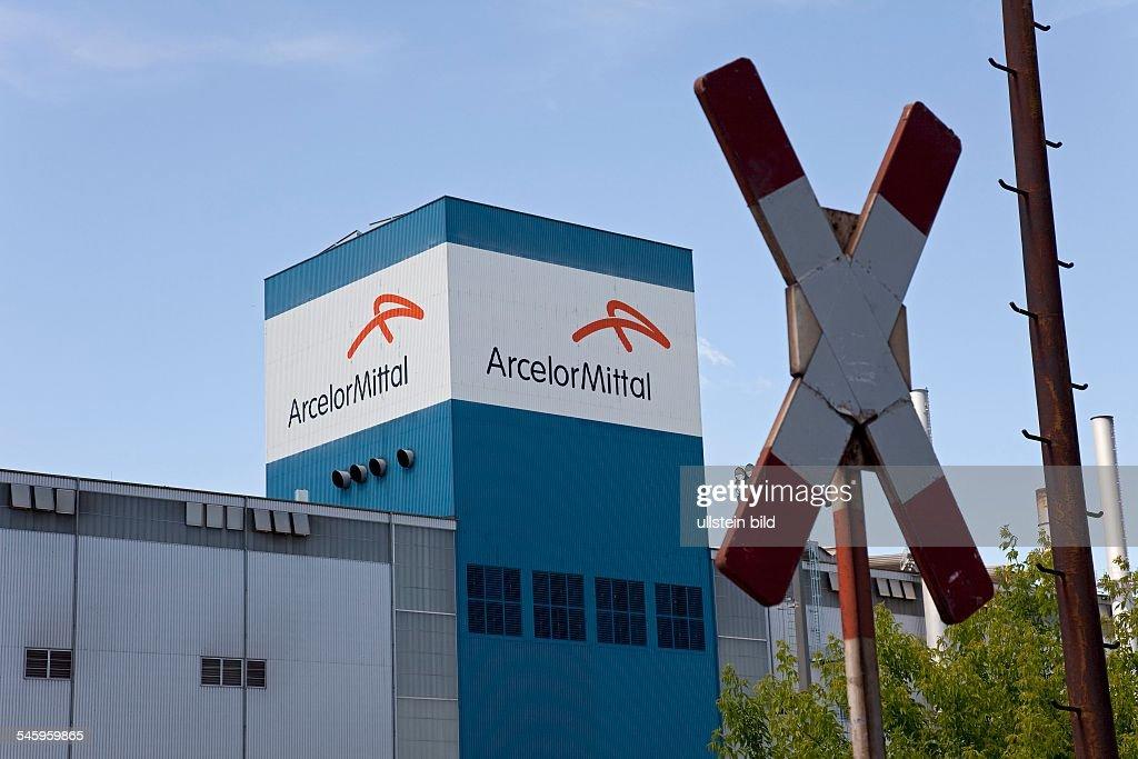 Germany Brandenburg Eisenhuettenstadt Steel works of ArcelorMittal