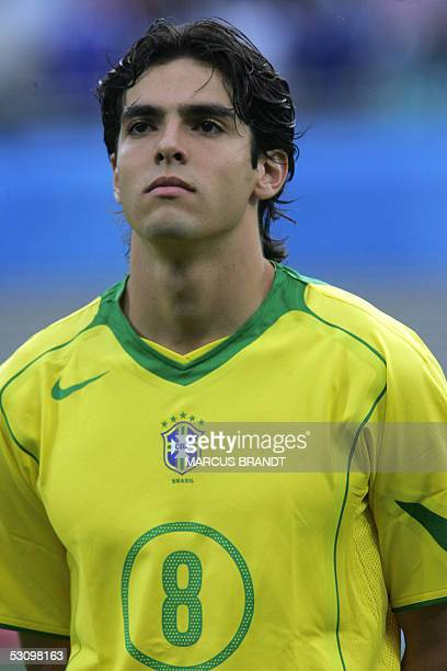 Brazilian midfielder Kaka poses prior to the 2005 FIFA football Confederations Cup match against Greece at Zentralstadion in Leipzig 16 June 2005 AFP...