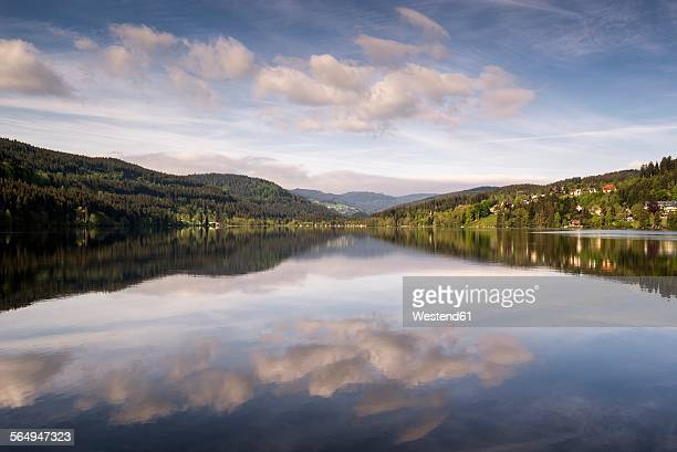 Germany, Breisgau-Hochschwarzwald, water reflections on Titisee at Black Forest