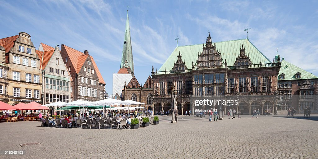 Germany, Bremen, Bremen Town Hall at market square