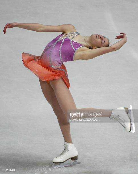 Carolina Kostner of Italy performs in the Ladies Qualifying Free Skating Program at the 2004 World Figure Skating Championships in Dortmund 24 March...