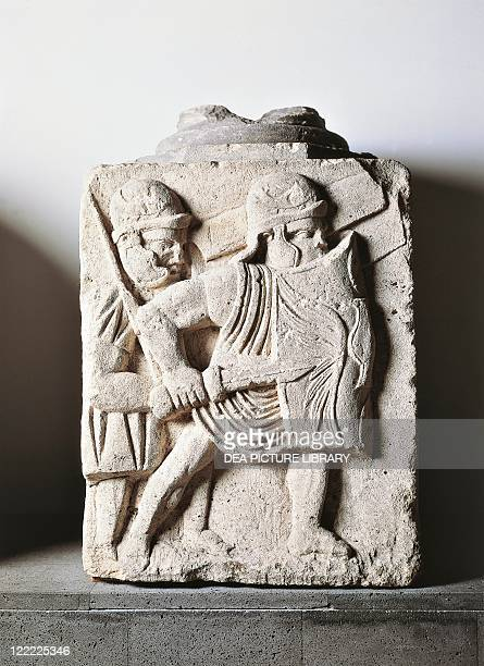 Germany castrum of Mainz Relief from the base of a column representing legionaries attacking