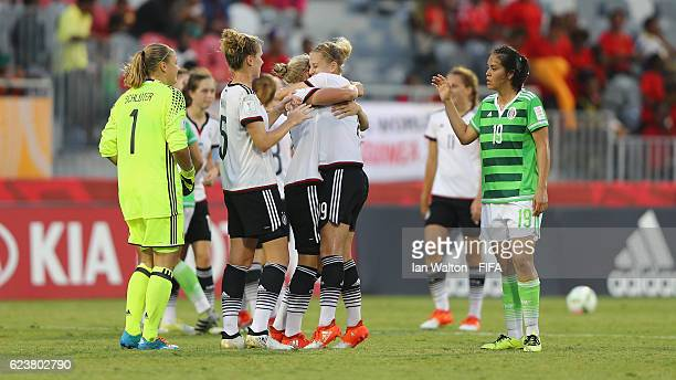 Germany celebrates after winning the FIFA U20 Women's World Cup Group D match between Germany and Mexico at National Football Stadium on November 17...