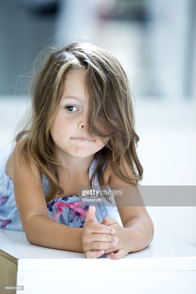 Germany, Close up of girl : Stock Photo