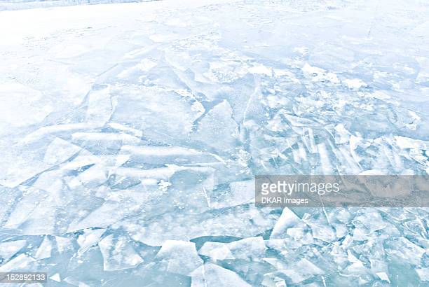 Germany, Close-up of broken ice