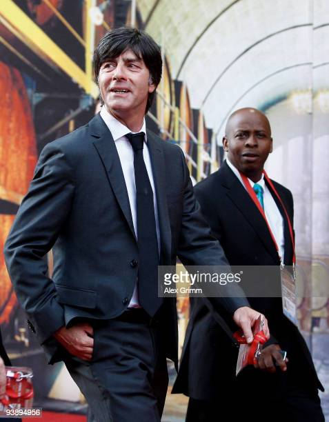Germany coach Joachim Loew arrives before the Final Draw for the FIFA World Cup 2010 December 4 2009 at the International Convention Centre in Cape...