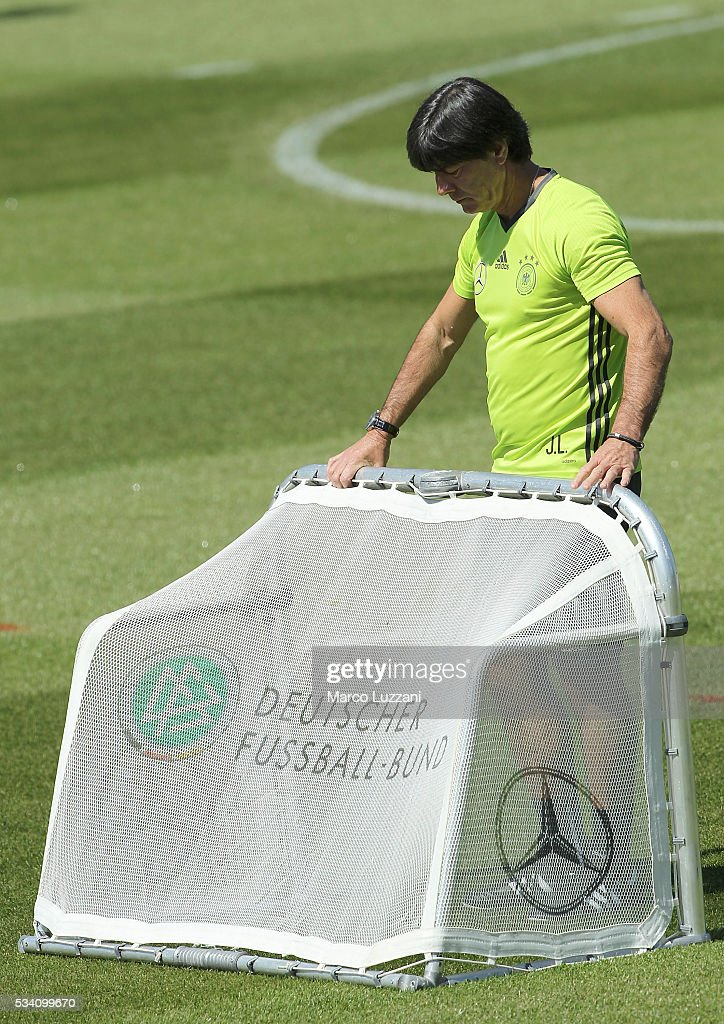 Germany coach Joachim Low during the German national team's pre-EURO 2016 training camp on May 25, 2016 in Ascona, Switzerland.