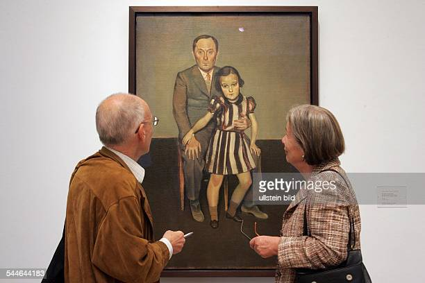 Germany Cologne Museum Ludwig exhibition 'Balthus Time Suspended Paintings and Drawings 1932 to 1960 painting Bild zeigt das Bild 'Joan Miró et sa...