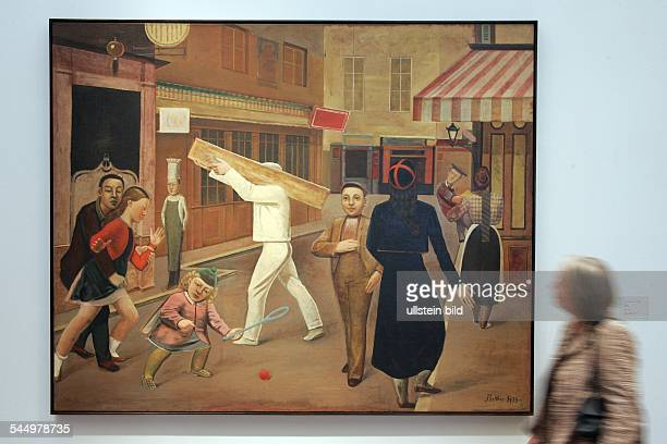 Germany Cologne Museum Ludwig exhibition 'Balthus Time Suspended Paintings and Drawings 1932 to 1960 painting 'La rue'