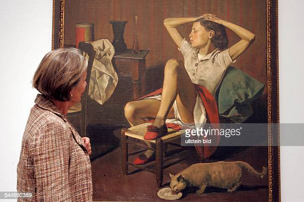 Germany Cologne Museum Ludwig exhibition 'Balthus Time Suspended Paintings and Drawings 1932 to 1960 painting 'Thérèse revant' '