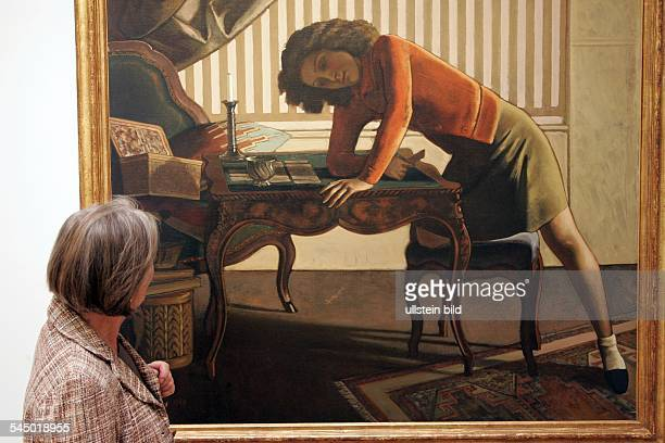 Germany Cologne Museum Ludwig exhibition 'Balthus Time Suspended Paintings and Drawings 1932 to 1960 painting 'La patience'