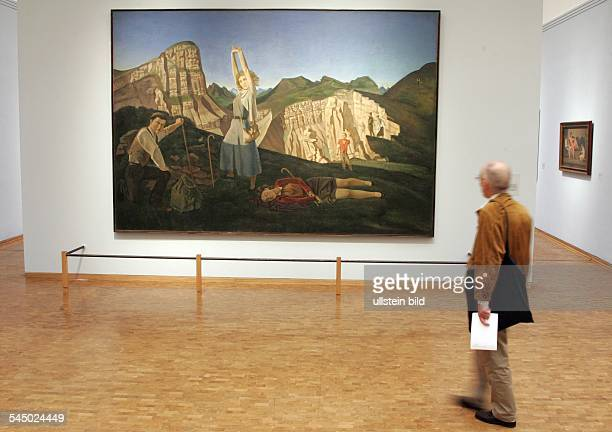 Germany Cologne Museum Ludwig exhibition 'Balthus Time Suspended Paintings and Drawings 1932 to 1960 painting 'La Montagne'