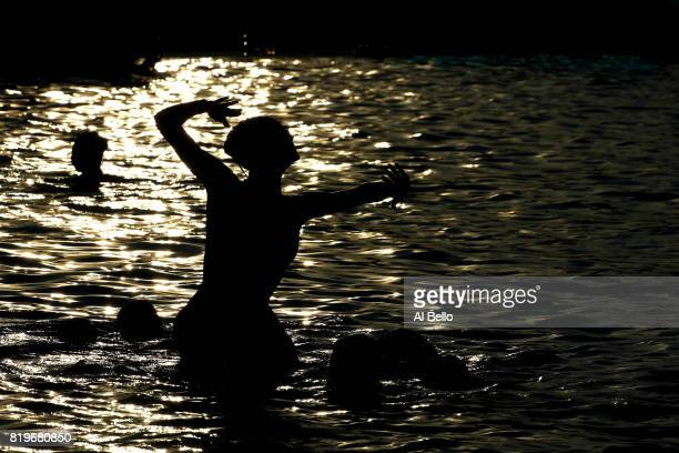Germany compete during the Synchronised Swimming FreeCombination preliminary round on day seven of the Budapest 2017 FINA World Championships on...