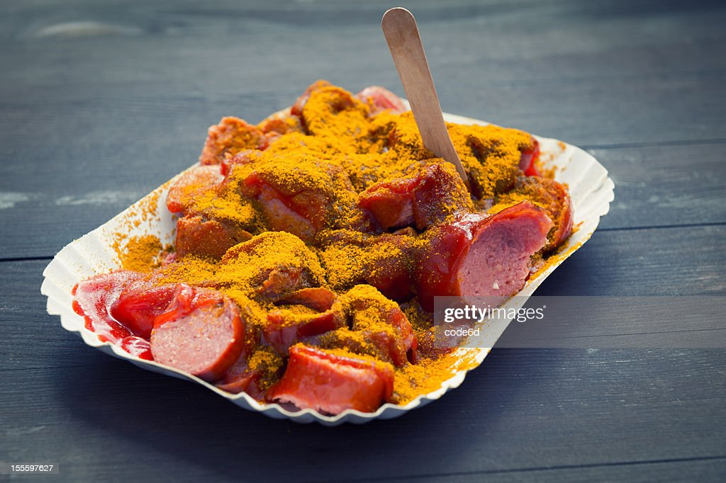 Germany Currywurst - a sausage with curry sauce
