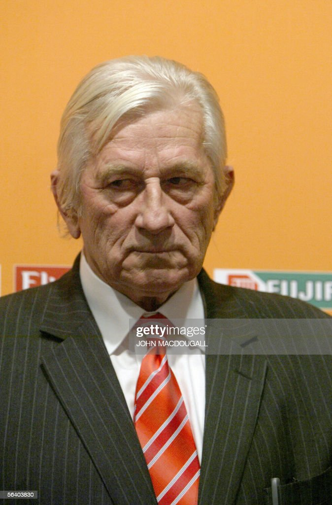 Czech head coach Karel Bruckner is seen during the final draw of the Fifa World Cup 2006 in Leipzig 09 December 2005. World Cup holders Brazil and the other 31 nations competing in next year's finals learned their first-round opponents when the draw was made in a star-studded ceremony.