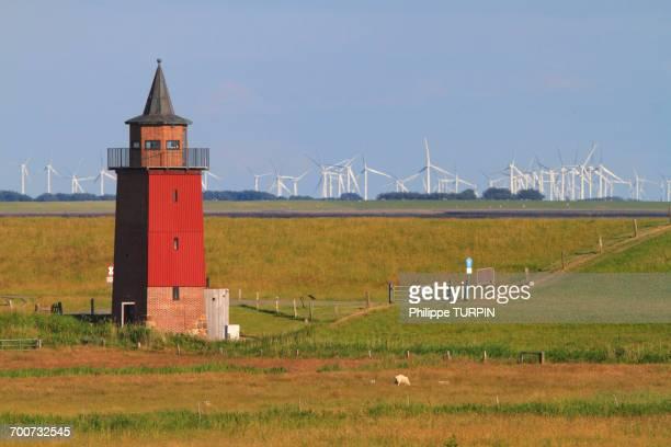 Germany, Dagebll. Schleswig-Holstein. The old lighthouse.