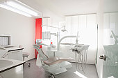Germany, Dentist chair and equipment in dental office
