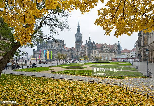 Germany, Dresden, Dresden Cathedral and Dresden Castle
