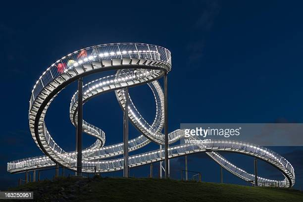 Germany, Duisburg, View of Tiger and Turtle art installation at Angerpark