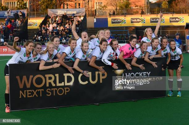 Germany during day 9 of the FIH Hockey World League Women's Semi Finals at Wits University on July 23 2017 in Johannesburg South Africa