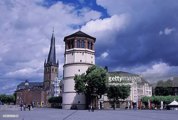 Germany Dusseldorf Old Town Castle Tower