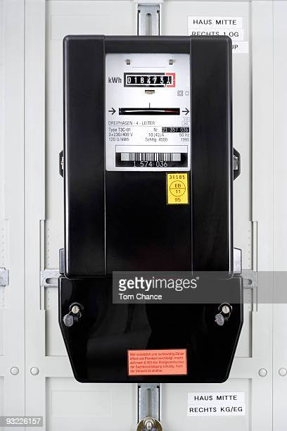 Germany, Electricity meter, close-up