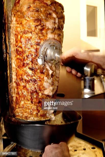 Turkish businessmen in Germany Doner kebab snack bar Galata doner kebab with chicken