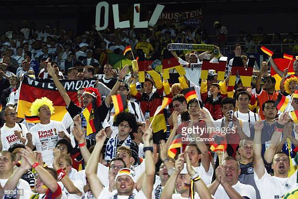 Germany fans during the Germany v Brazil World Cup Final match played at the International Stadium Yokohama in Yokohama Japan on June 30 2002 Brazil...