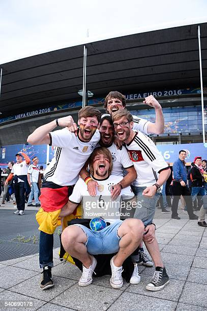Germany fans during the UEFA EURO 2016 Group C match between Germany and Poland on June 16 2016 in Paris France