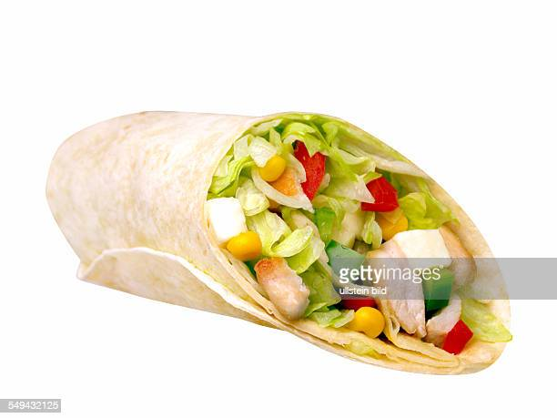Food wraps wrap with chicken
