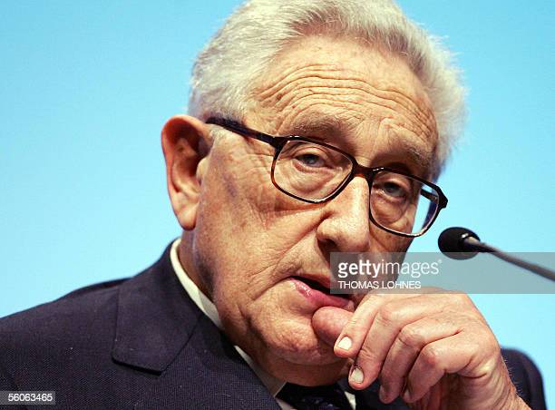 Former US State Secretary Henry Kissinger is seen on 03 November 2005 during the 'World Business Forum' in Frankfurt/M The World Business Forum is a...