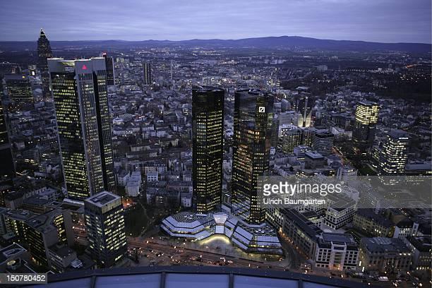 Germany Frankfurt Headquarters of the Deutsche Bank AG