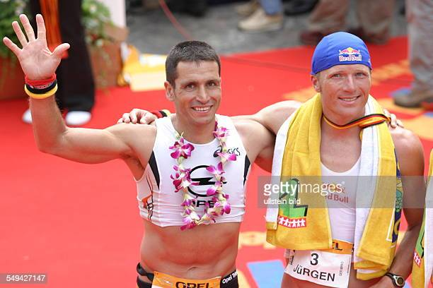 Ironman Portraet of two participants after the competition